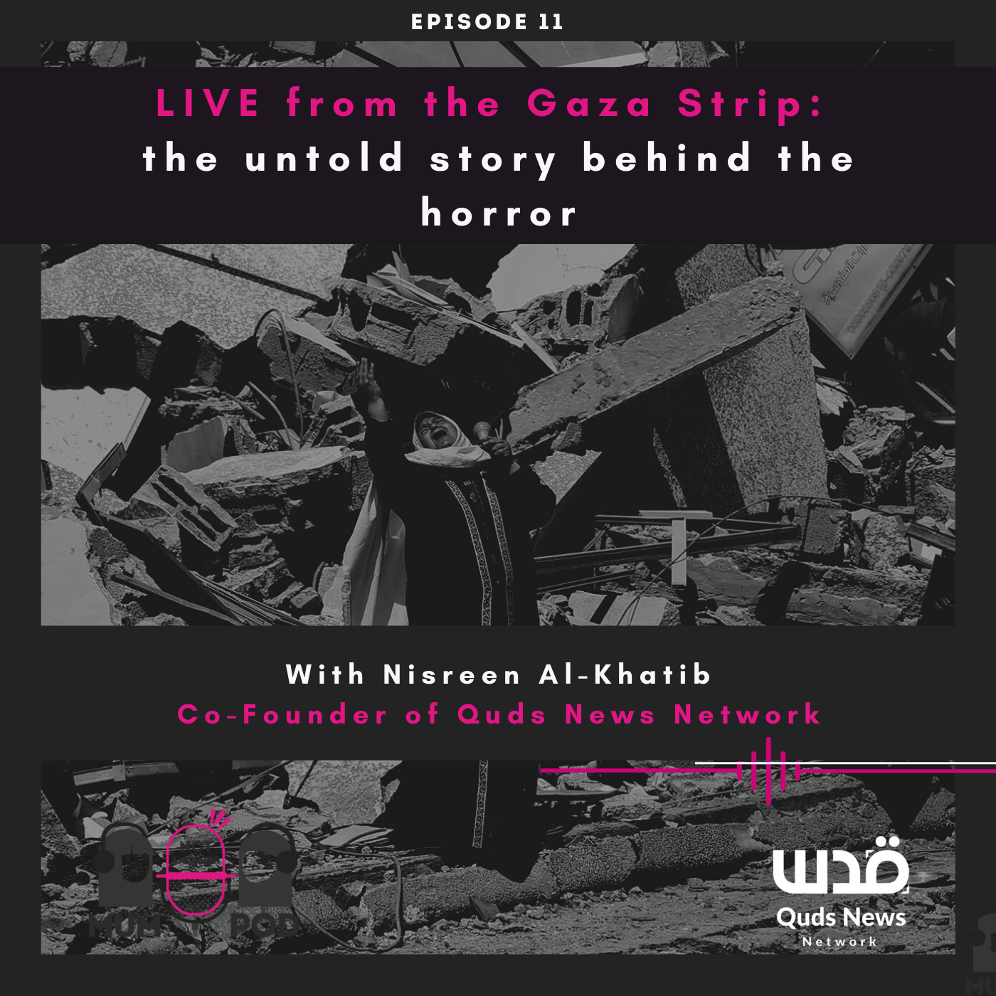 Read more about the article Ep 11. LIVE from the Gaza Strip: the untold story behind the horror (with Nisreen Al-Khatib from Quds News Network)